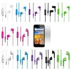 Stereo Headset For Straight Talk ZTE Unico Z930 Z930L Handfree +Screen Protector