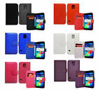 Shock Proof Pu Leather Wallet Book Flip Case Cover Fits Samsung Galaxy S5 I9600