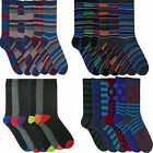 Mens  Socks Shoes Spotty spots stripe stripey plain heal and  12,24 pairs  7-11