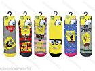 CHILDRENS GIRLS BOYS SPONGEBOB SQUAREPANTS WARM SLIPPER GRIPPER BED SOCKS