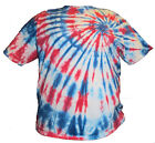 Red, White and Blue Spiral Tie Dye Shirt 2X 3X Extended Sizes