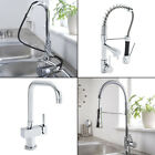 Stylish Modern Kitchen Sink Basin Mixer Taps Monobloc Pull Out Spray Rinser