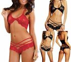 New 2pc 1 Set Sexy Women Lingerie Lace  Sleepwear Bra + Underwear