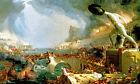 THE COURSE OF EMPIRE DESTRUCTION HUMAN DECAY 1836 PAINTING BY THOMAS COLE REPRO