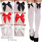 Ladies Over The Knee Socks Stockings Thigh High With Bows Hold Up