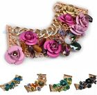 5 Colors Gorgeous Fashion Multi-Color Spray Flower Resin Beautiful Bracelet