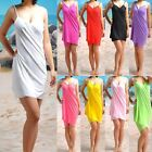 1 Sexy Women Open-back Wrap Front Beach Cover Up Dress Swimsuit Bikini M0528