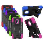 Phone Case For LG Optimus F6 Rugged Cover Kickstand