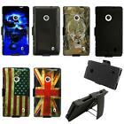 For Nokia Lumia 521 Phone Case Hard Cover with Holster Belt Clip w Stand
