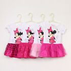 New Girls Kids Toddlers Cute Disney For Minny Mouse Princess Tutu Dress 1-5Years