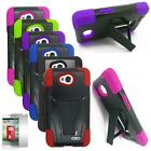 Phone Case For Verizon LG Optimus Exceed 2 Rugged Cover Stand + Screen Protector