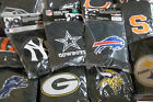 pick your TEAM Logo 2 ct set HEAD REST SIZE COVERS all Black Car NFL Yankees SU