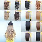 "22"" Straight/Wavy 5 Clips In Hair Extensions 3/4 Full Head Weft Human Preference"