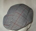 FLAT CAP GOLF IVY CAP DUCKBILL FIXED PEAK PRINCE OF WALES 3 COLOUR WAYS 2 SIZES