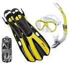 Mares Volo Marea Pro Snorkelling Set - Mask, Fins, Snorkel and Travel Bag YELLOW