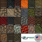 550 Paracord Solid and Camo Rope 10, 25, 50, 100 Feet