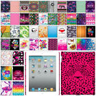 For Apple iPad 2 3 4 Design PATTERN HARD Protector Case Back Cover + Pen