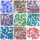 200pcs 4mm Faceted Glass Crystal SW 5301# Bicone Loose Spacer Beads 76 Colors