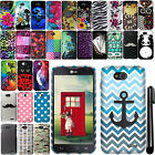 For LG Optimus L90 D405 D415 Image PATTERN HARD Case Phone Cover + Pen