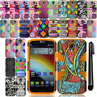 For LG Volt F90 LS740 Armor HYBRID Rubber HARD Case SILICONE Phone Cover + Pen