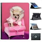 Cool Chihuahua Dog On Chair Folio Wallet Leather Case For iPad 2, 3 & 4