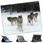 Wolves Folio Wallet Leather Case For iPad 2, 3 & 4