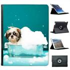 Puppy Dog In Bubbles Folio Wallet Leather Case For iPad 2, 3 & 4