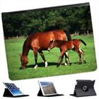 Mare With Foal Horse Folio Wallet Leather Case For iPad 2, 3 & 4