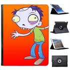 Zombie With Green Eyes Walking Folio Wallet Leather Case For iPad 2, 3 & 4