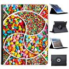 Pick & Mix Sweets Stars Hearts Colours Folio Leather Case For iPad 2, 3 & 4