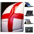 Red St Georges Cross on White Football Folio Leather Case For iPad 2, 3 & 4