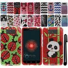 For Motorola Droid Ultra XT1080 DIAMOND BLING HARD Case Phone Cover + Pen