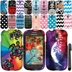 For Samsung Galaxy Light T399 Design PATTERN HARD Case Phone Cover + Pen