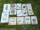 SHABBY CHIC VINTAGE SIGNS RETRO METAL PLAQUES PAIRS FRENCH ROSES LE BAIN MAISON