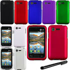 For LG Optimus Zone 2 Fuel L34C VS415PP Rubberized HARD Case Phone Cover + Pen