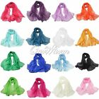 1 Long Soft Silk Women Lady Chiffon Scarf Shawl Fashion Scarves 16 Color Wedding