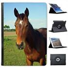 Horse Head Folio Wallet Leather Case For iPad Air