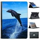 Dolphin Jumping Folio Wallet Leather Case For iPad Air & Air 2