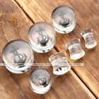 Pair Gauges Transparent Clear Acrylic Anchor Double Flared Ear Tunnels Plugs New