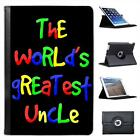 The World's Greatest Uncle Birthday Gift Folio Leather Case For iPad Mini
