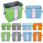Portable Nonwoven Pouch Holder Blanket Pillow Underbed Storage Bag Box Organizer