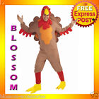 C877FN Fleece Turkey Funny Adult Thanksgiving Christmas Halloween Fancy Costume