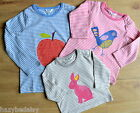 Mini Boden gilrs /baby cotton long sleeve applique top t-shirt 3 months - 3 year