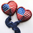 LADY LIBERTY Star Spangled Banner USA Flag Nipple Tassels Covers Pasties