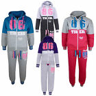 "GIRLS TRACKSUIT ""TIGERS 86 BROOKLYN CALIFORNIA"" JOG SUIT HOODIE & JOGGERS 7-13Yr"
