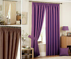 WOVEN LUXURY CURTAINS Heavy Weight Jacquard Pencil Pleat Fully Lined Curtain