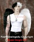 Adults XL Wingspan Costume Feather Angel Wings Dark Fairy Maleficent Demon Angel