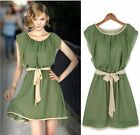 Summer Womens sleeveless Chiffon Cocktail Party Flare Skater Pleated Dress
