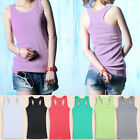 New Womens Sleeveless Tank Tops Cami No Sleeve T-Shirt bottoming Camisole Vest