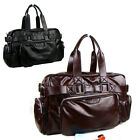 Vintage Men Faux Leather Bag large capacity Fashion Briefcase Luggage Bag ZA0011